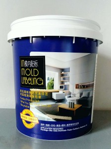 2021  Greensource Wholesale New Matted in-Mould Labeling  opp Material  of Paint Bucket