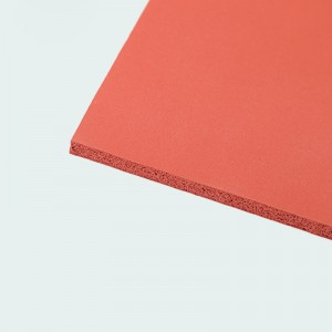 High quality Silicone foam rubber sheet in Red