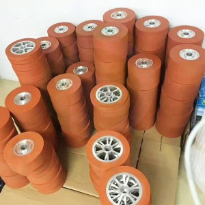 Heat Transfer Silicone Wheel Hot Stamping Silicone Wheel