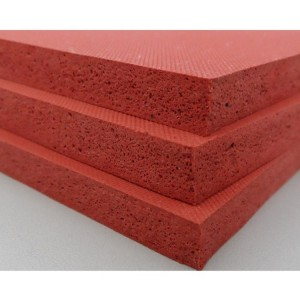 Silicone foam sponge sheet with texture