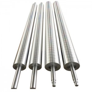 Aluminum guide rollers for printing machine