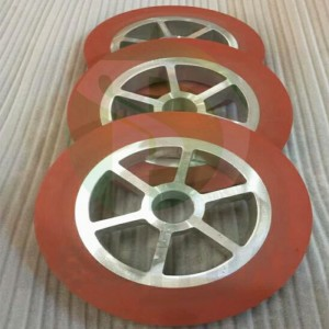 Silicone rubber wheel roller for hot stamping foil pressing machine