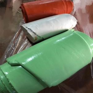 Vulcanized silicone rubber material