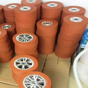 Hot Stamping silicone rubber wheel for PS Photo Frame Moulding