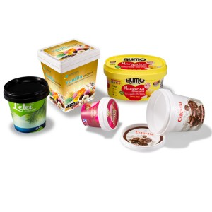 UV Technology In-Mold Labeling Plastic Cream Container
