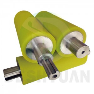 PU Roller Laminating rubber Rollers with steel shaft