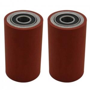 Polyurethane PU rubber wheels with 6001model bearing