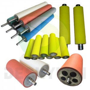 Various types of industrial rubber rollers