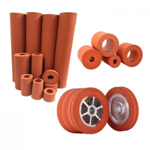 Silicone Rubber Roller for Hot Foil Stamping in China