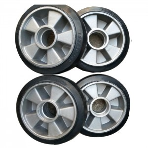 4inch 5inch 6inch zinc plate Rubber caster wheels