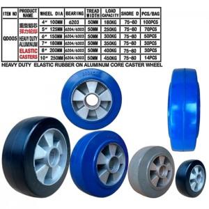Stearing rubber wheels