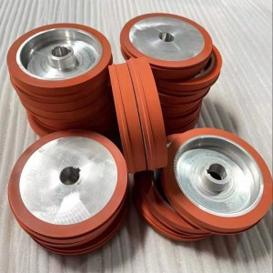 bottle hot stamping silicone rubber wheel