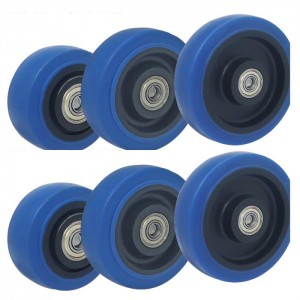 Factory direct sale 3 inch 4 inch 5 inch elastic rubber wheel