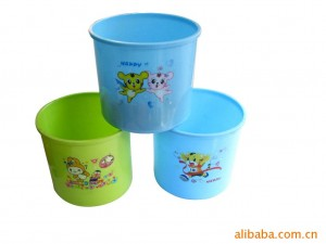 Customized Drawing Heat Transfer Printing Film For Plastic Pail Bucket Basin Customized Size