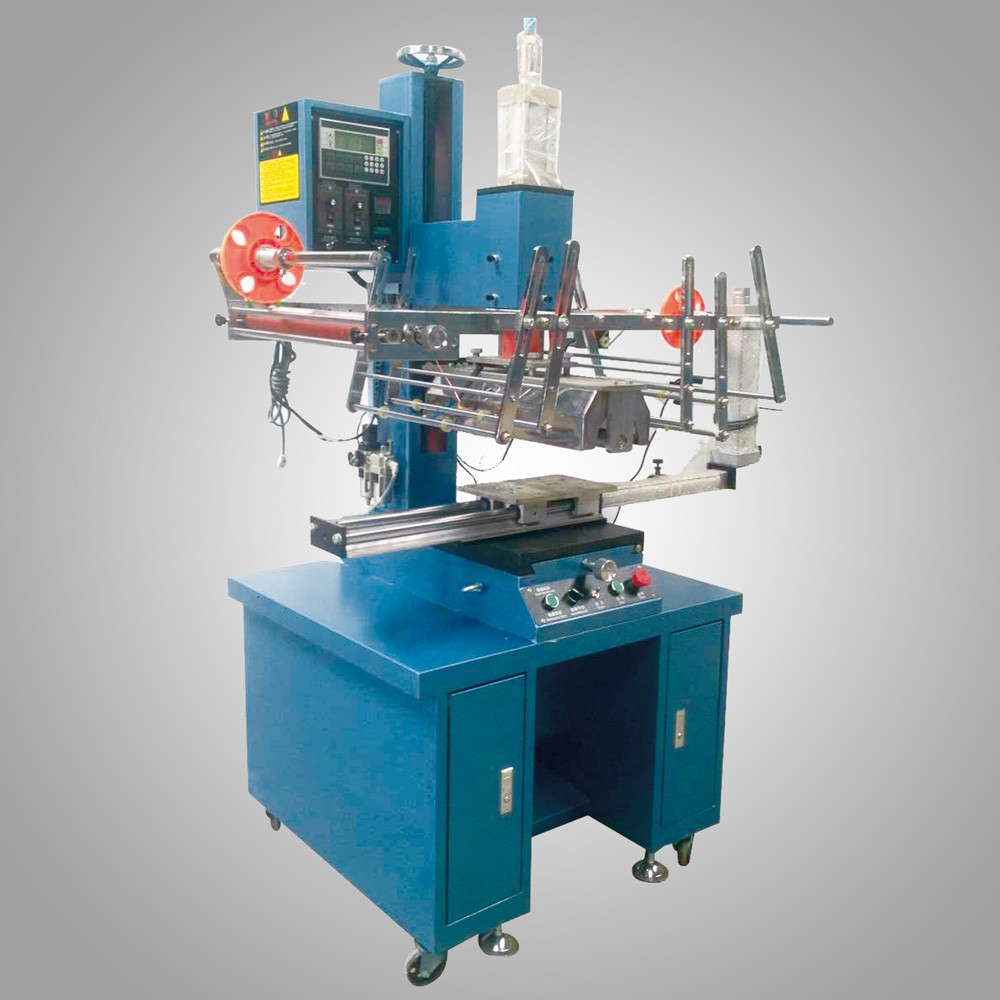 Heat transfer machine for plastic paint bucket and pails