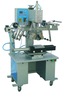 Automated Heat Transfer Label Machine For Square bottles Lipsticks Buckets