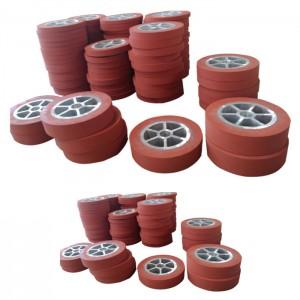 Silicon rubber wheel for hot stamping machine
