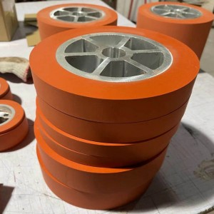 hot stamping silicone rubber wheel for Extrusion Line Equipment machine