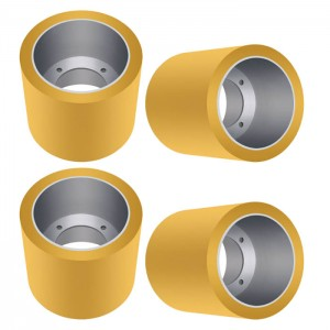 4 Inch Iron Core Rice Mill Rubber Rolls Polyurethane Roller