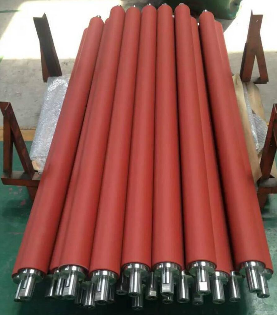 The use of rubber rollers in office equipment and paper industry