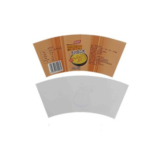 Custom mold in graphics label pp cup in mold labeling