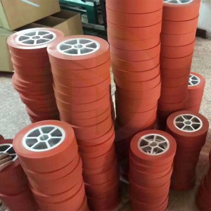 hot stamping silicone rubber roller wheel
