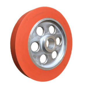 Red Color Silicone Rubber Wheel Hot Stamping Wheel