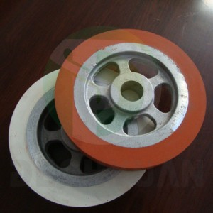 Silica gel wheel used on heat transfer machines